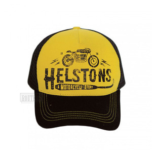 헬스톤모자 트러커캡HELSTONS TRUCKER CAPCAFE RACER YELLOW BLACK