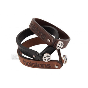 헬스톤악세사리HELSTONS LEATHER BRACELETPEACE